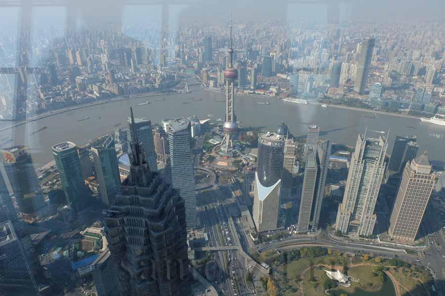 Вид Шанхая со смотровой площадки SWFC